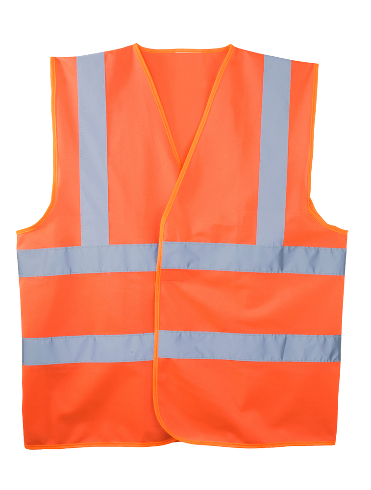 Gilet de signalisation orange