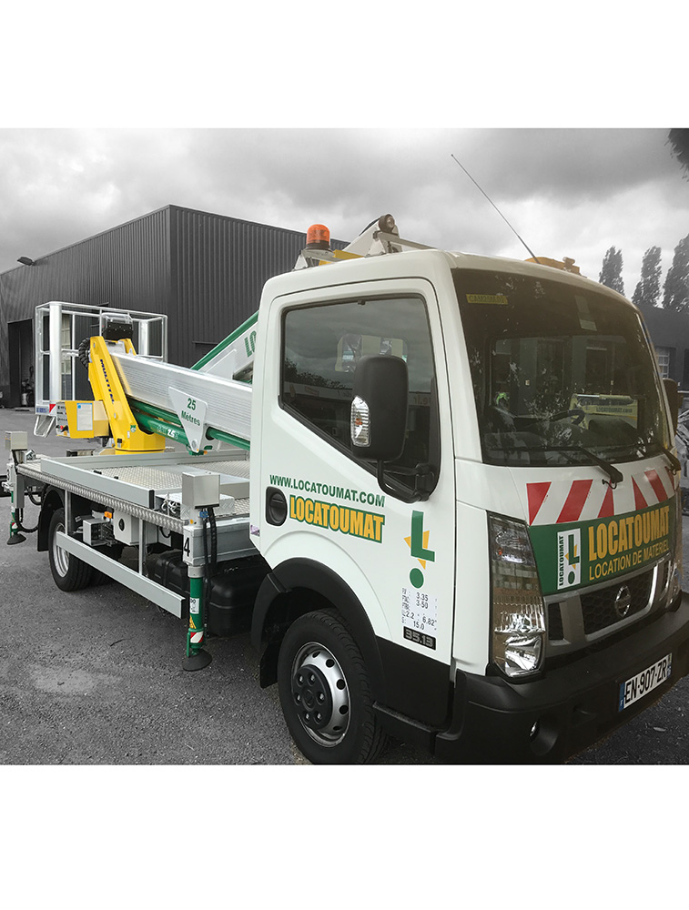Truck mounted boom lift 25m